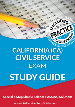 California CA Civil Service Exam Study Guide and Practice Test