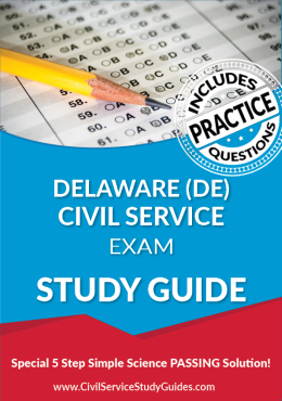 Delaware DE Civil Service Exam Study Guide and Practice Test