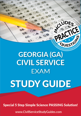 Georgia GA Civil Service Exam Study Guide and Practice Test