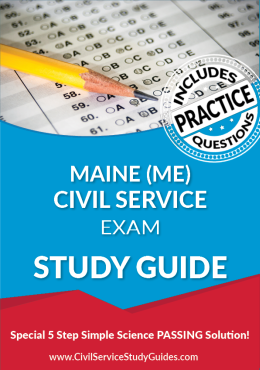 Maine ME Civil Service Exam Study Guide and Practice Test