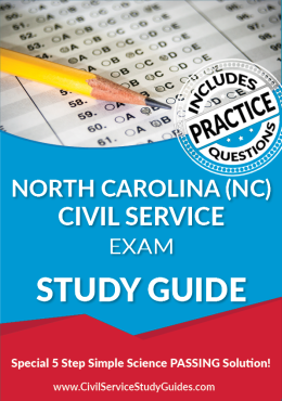 North Carolina NC - Civil Service Test Study Guide