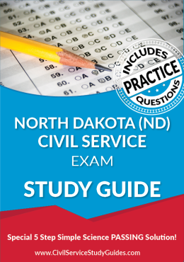 North Dakota ND - Civil Service Test Study Guide