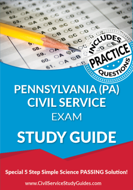 Pennsylvania PA - Civil Service Test Study Guide