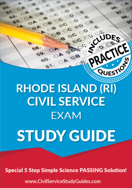 Rhode Island RI - Civil Service Test Study Guide