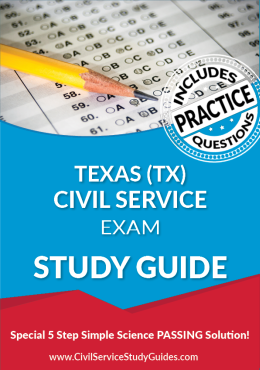Texas TX - Civil Service Test Study Guide