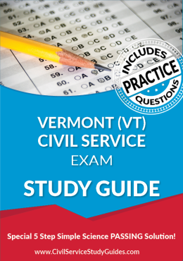 Vermont VT - Civil Service Test Study Guide