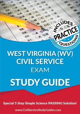 West Virginia WV - Civil Service Test Study Guide