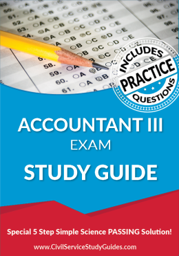 Accountant III Exam Study Guide and Practice Test