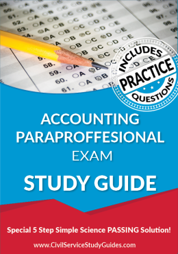 Accounting Paraprofessional Test Study Guide and Practice Test