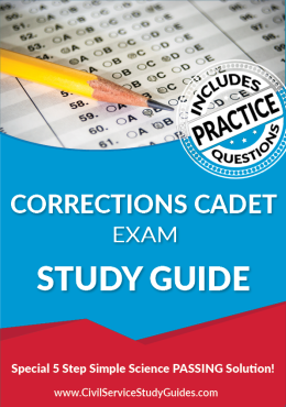 Corrections Cadet Exam Study Guide and Practice Test