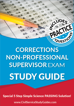 Corrections Non-Professional Supervisor Exam Study Guide and Practice Test