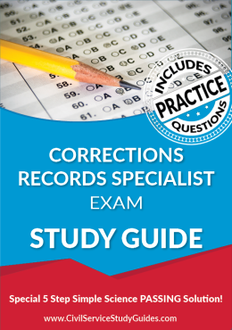 Corrections Records Specialist Exam Study Guide and Practice Test