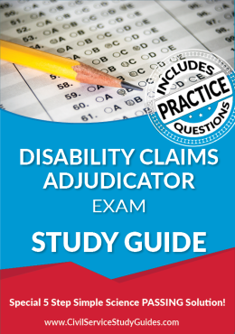Disability Claims Adjudicator Exam Study Guide and Practice Test