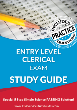 Entry Level Clerical Exam Study Guide and Practice Test