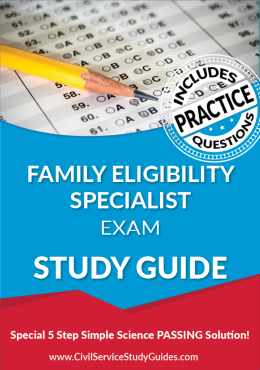 Family Eligibility Specialist Exam Study Guide and Practice Test