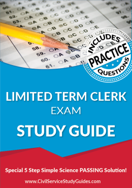 Limited Term Clerk Exam Study Guide and Practice Test