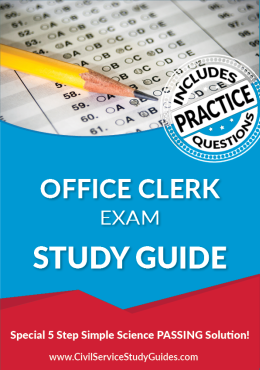 Office Clerk Exam Study Guide and Practice Test
