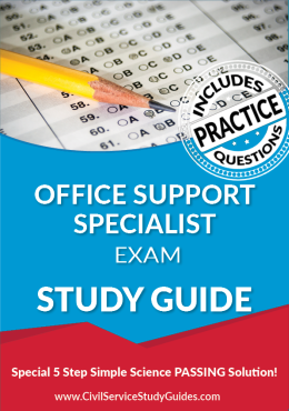Office Support Specialist Test Study Guide and Practice Test