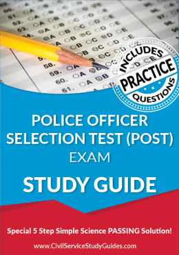 Police Officer Selection Exam Study Guide and Practice Test