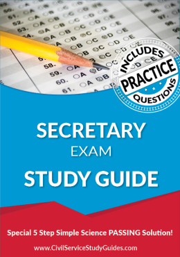 Secretary Test Study Guide and Practice Test