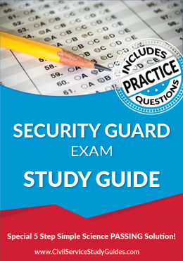 Security Guard Exam Study Guide and Practice Test