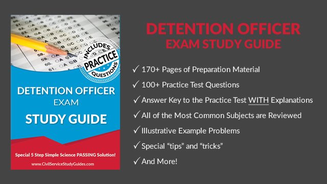 detention officer exam test study guide practice and review rh civilservicestudyguides com Texas Juvenile Detention Officers Detention Officer Gear