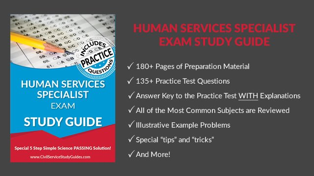 human services specialist test civil service test study guide book rh civilservicestudyguides com human services specialist exam study guide sacramento Cicerone Exam Study Guide