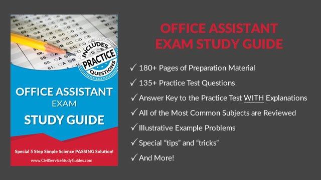 office assistant test civil service test study guide book rh civilservicestudyguides com Police Study Guide Police Exam Study Guide